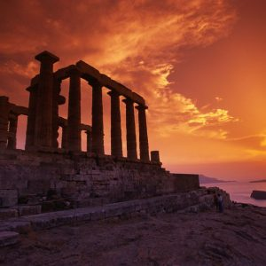 Cape Sounion sunset